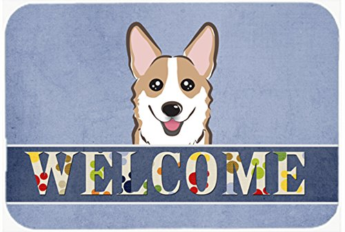 (Caroline's Treasures BB1439CMT Sable Corgi Welcome Kitchen or Bath Mat, 20 by 30