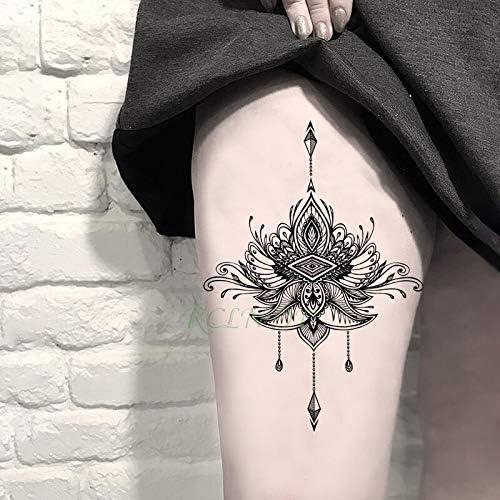 tzxdbh Etiqueta engomada del Tatuaje Impermeable Hoja de Oro Rosa ...