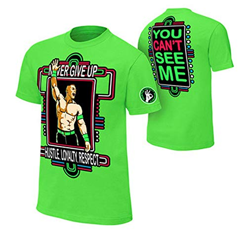 WWE John Cena T-shirt , Cap , Sweatbands strong Wristbands 5 Piece Set Wrist RAW (XS, green)