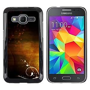 LECELL--Funda protectora / Cubierta / Piel For Samsung Galaxy Core Prime SM-G360 -- Light Subtle Warm Calming Clean Flower --