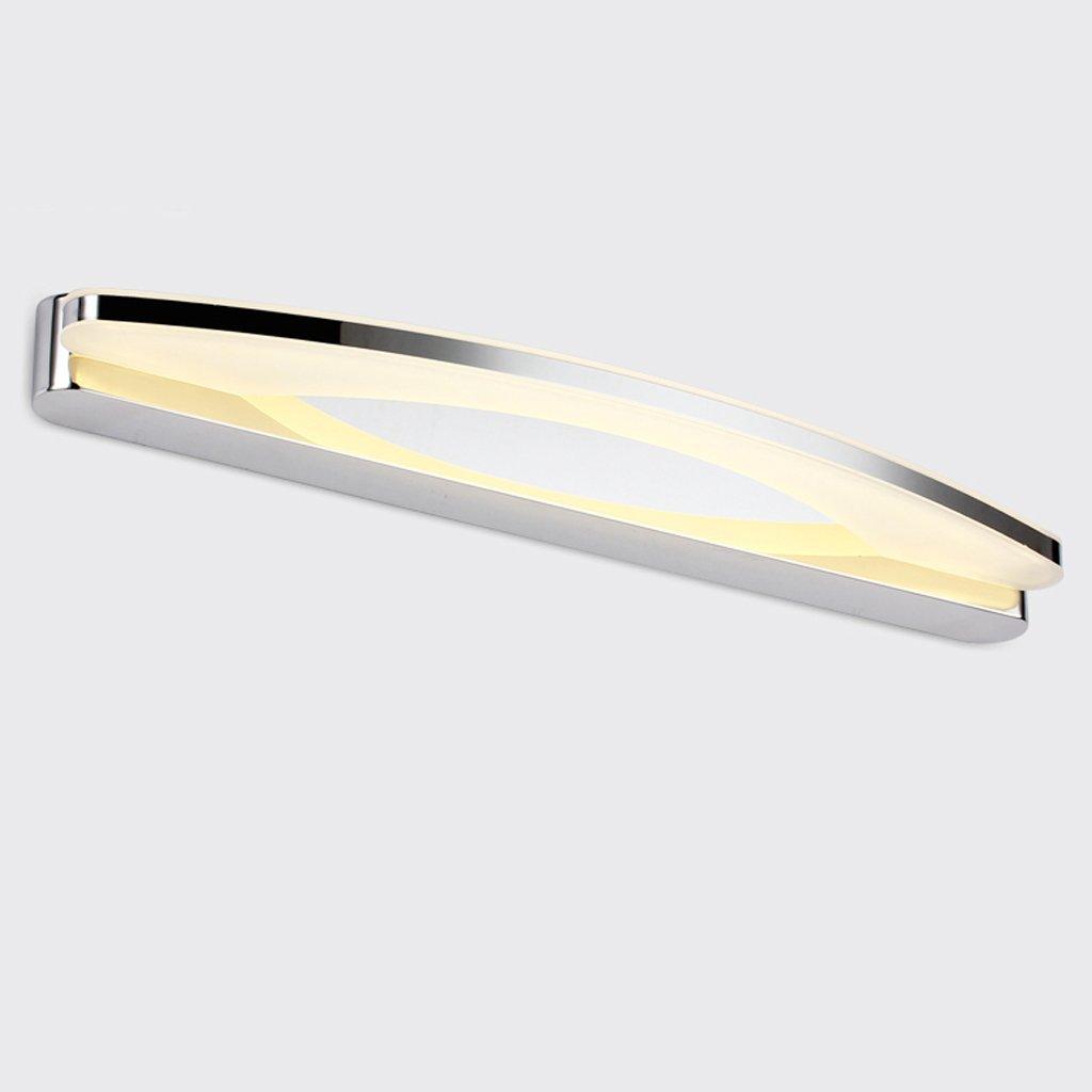 Ali LED-Spiegel-vorderes helles Art und weiße einfaches Badezimmer-Edelstahl-Anti-fog Feuchtigkeits-Verfassungs-Lampen-Wand-Lampen (Farbe   Warmes Licht-80cm)