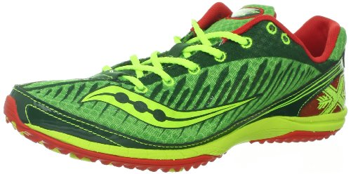 Saucony Men's Kilkenny XC5 Spike Cross-Country Shoe,Green/Citron,12.5 M US