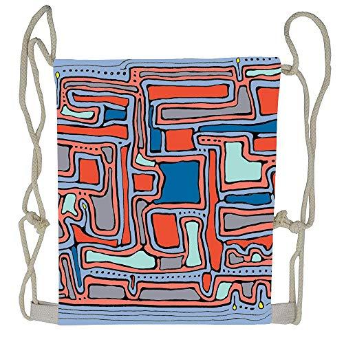 AoshangGardeflag Pattern - Serenity Sculpture Drawstring Backpack Sports Bag Drawstring Backpack For Woman