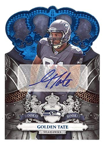 2010 Panini Crown Royale Golden Tate Rookie Autograph 20/50 - Panini Certified - Football Slabbed Autographed Rookie Cards