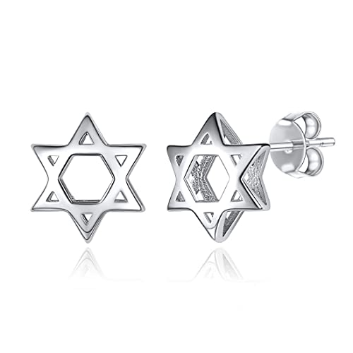 e4b6a3b95 ChicSilver Tiny Star Earrings 925 Sterling Silver Hypoallergenic Magen Star  of David Jewelry Stud Earrings for