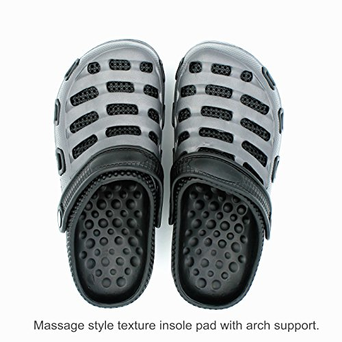 Zapatillas De Deporte Para Hombres Zapatillas Mulas Sandalias De Barco Zapatillas Zapatillas De Dos Tonos De Doble Capa Slip-on Massage Dark Grey / Black