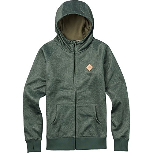 BURTON Women's Scoop Hoodie, Medium, Vetiver Heather