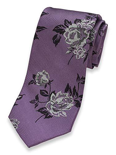 Paul Fredrick Men's Floral Silk Tie