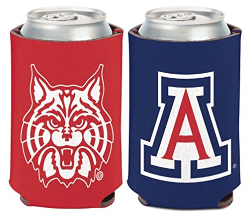 NCAA University Arizona Wildcats 1 Pack 12 oz. 2-Sided Can Cooler