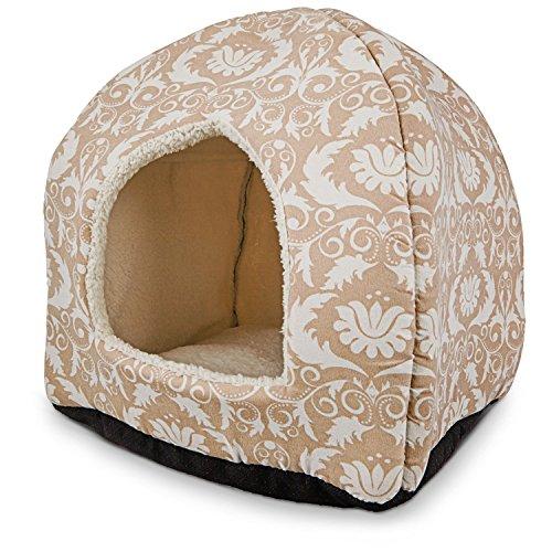 [Petco Restful Snuggler Brown Pyramid Cat Bed, 14