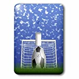 3dRose LLC lsp_50251_1 Soccer n Blue Skies, Single Toggle Switch