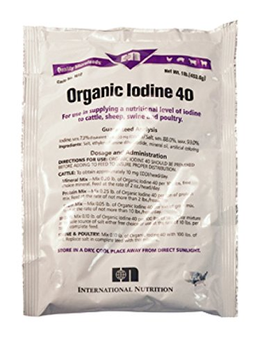 Durvet Organic Iodine Nutritional Level with Protein Grain or Salt 40gm 25 lbs by Durvet
