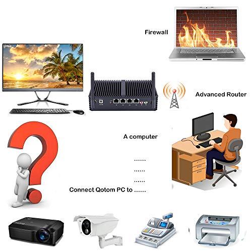 Qotom Q330G4 4 LAN Mini PC with 4Gb Ram 32Gb SSD, Intel Core i5 Processor,  Fanless Mini PC OPNsense, Sophos, Vyos, Untangle, etc