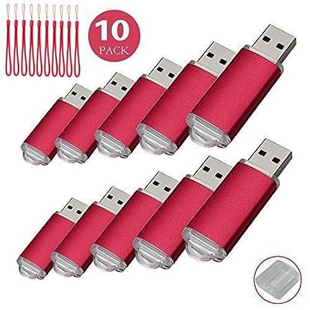 10PCS USB-Flash Drive USB 2.0 Memory Stick Memory Drive Pen Drive rot 256MB