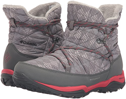 Columbia Women's Loveland Shorty Omni-Heat Print Snow Boot, Light Grey/Burnt Henna, 7.5 B US by Columbia (Image #6)
