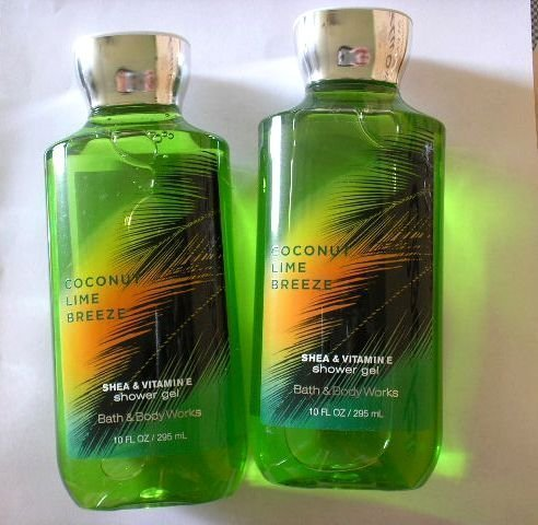 (Bath and Body Works Coconut Lime Breeze Shower Gel 10 Ounce - Pack of 2)