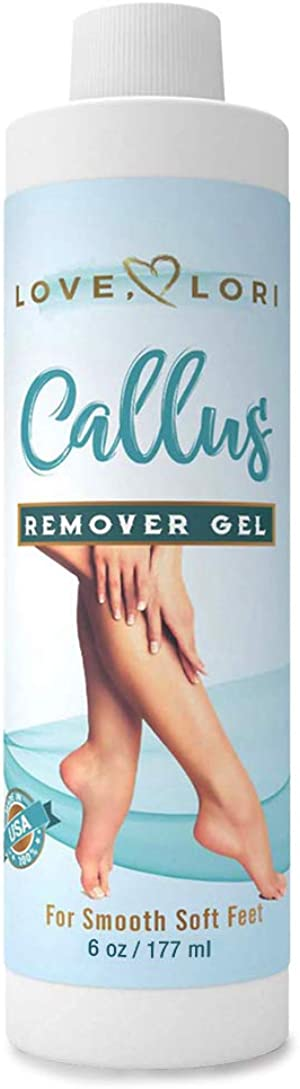 Callus Remover 6 oz For Feet Professional Results Gel Formula Use With Your Favorite Foot Scrubber, Foot File, or Pumice Stone For Feet For A Home Pedicure