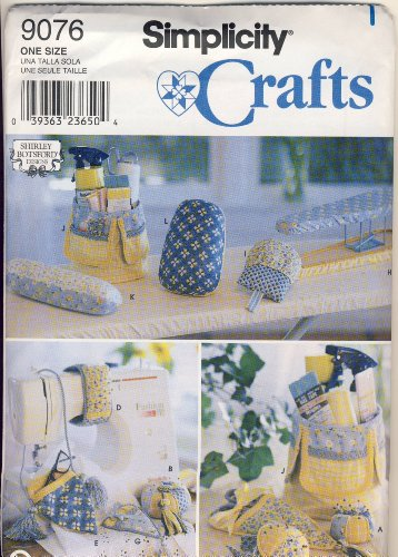Simplicity Sewing Pattern 9076 - Use to Make - Sewing Accessories - Pincushions, Eyeglass Holder, Scissors Holders, Covers, Pressing Mitt, Seam Roll, Pressing Ham
