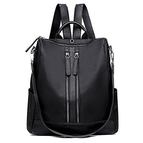 Unisex Classic Nylon Backpack Oxford School Shoulder Bag Waterproof (B002-Oxford ()