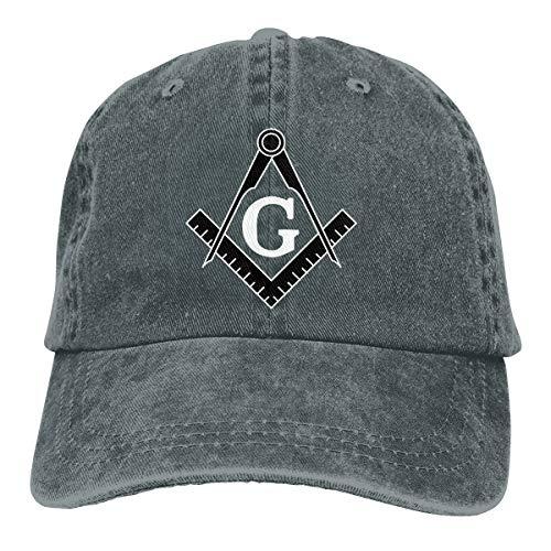 Freemason Logo Square and Compass Baseball Cap Dad Hat Adjustable Cap Visor Hats Deep Heather