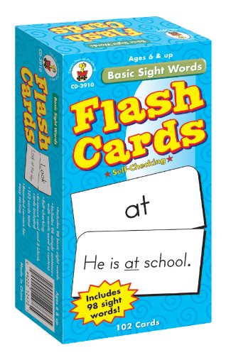 Basic Sight Words Flash Cards, Ages 6 - 9 - Dolch Readers