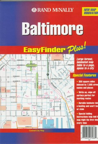 Rand McNally Baltimore Md. Easyfinder Plus Map