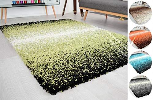Global Home 3 Tone Green & Ivory Mix Super Soft High Deep Pile Luxury Shaggy Area Rug kaleen||Living Room,Guest Room,Hall Rug Carpet||6 Small Medium Large ||Size-3 feet x 5 feet