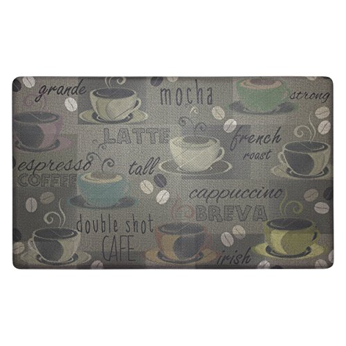 Chef Gear Roasted Coffee Anti-Fatigue Comfort Memory Foam Kitchen Chef Mat, 18 x 30 by Chef Gear