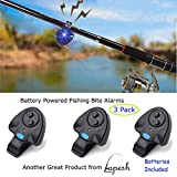 Hi-Tech Fishing Bite Alarm with LED Light. Easy to use bite Alarm Makes Great Bite Alarms for All Fishing! Battery Powered Fish bite Alarm - aka Fishing Rod Alarm, Fishing Pole Alarm, bite Indicator.