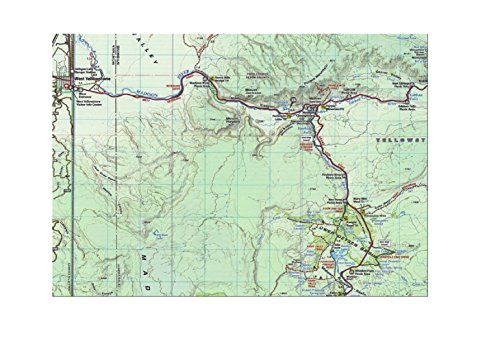Yellowstone National Park Wyoming Montana Idaho Topographic Shaded Relief Outdoor Recreation Map