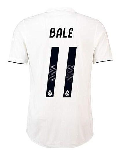 Mu Dou Zhi Neng Men s Real Madrid Bale Jerseys   11 Soccer Jersey 2018 2019 f2d3d4298