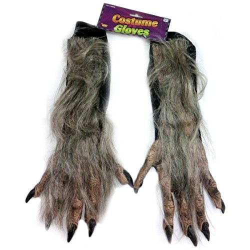 X - Long Werewolf Gloves Brown