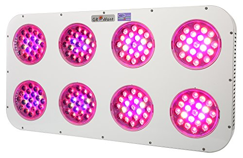 GROWant G2-Lens Series 1200Watt LED Grow Light Full Spectrum Enhanced for Indoor Plants Veg and Flower by GROWant