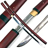 Ace Martial Arts Supply Handmade Japanese Shirasaya Samurai Katana Sharp Sword