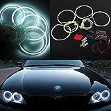 AV SUPPLY 4 X 131mm CCFL Angel Eyes Halo Rings Kit 6000K 16W for BMW E36 E46 E39 E38
