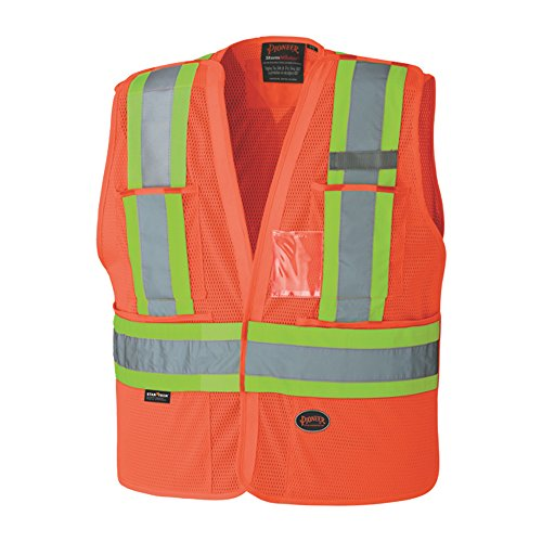 Away Vest Tear Safety (Pioneer V1021450U Hi-Vis Safety Tear-Away Vest - Orange (2/3XL))