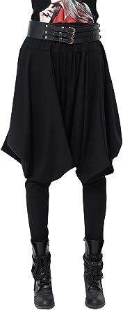 Pantalones Tipo Harem De Invierno Para Mujer De Ellazhu Pantalones Hippies Talla Unica Gy508 Negro Negro Talla Unica Amazon Es Ropa Y Accesorios