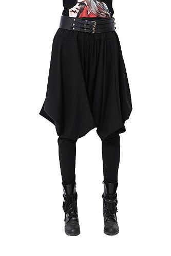 ELLAZHU mujer invierno pantalones de harén HIPPIE personalidad Onesize gy508