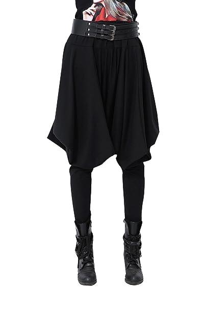 850ac24432 ELLAZHU, pantaloni invernali stile hippie, alla moda, taglia unica, da  donna, codice articolo GY508