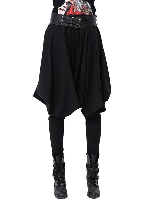 ELLAZHU Damen Hippie Mode Haremshose Einheitsgröße GY508 Schwarz   Amazon.de  Bekleidung 23fd6c2d77