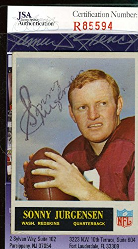 SONNY JURGENSEN JSA COA Autographed 1965 PHILADELPHIA Authentic Hand Signed