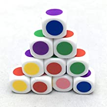 SmartDealsPro Set of 10 16MM Blank With Different Color on Each Face Six Sided Dice Teaching Plastic Cubes