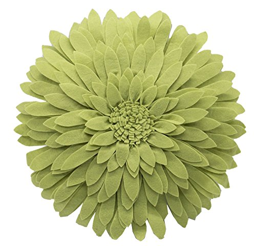 Fennco Styles Elegant 3D Sunflower Decorative Throw Pillow 13'' Round (Lime, Case+Insert) by Fennco Styles