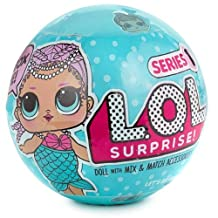 L.O.L. Surprise! Doll Lil Outrageous Littles Series 1-2A Mermaid Mystery Pack And A Sheet of 5 Mini Dot Bubble Kids Stickers