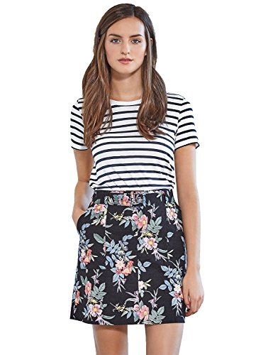 Blooming Jelly Womens Striped Sleeve