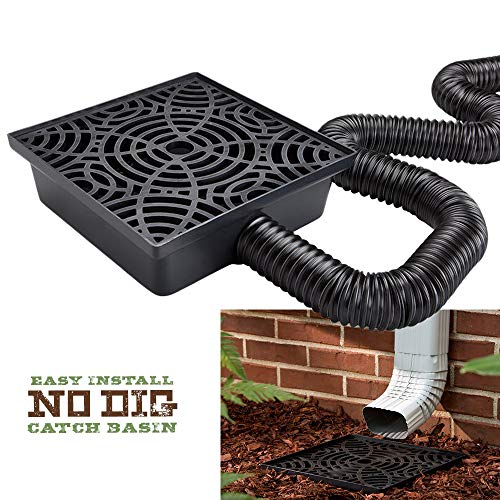 12-in. No Dig Low Profile Catch Basin Downspout Extension Kit
