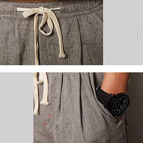 Alla Donna Pantaloni Classiche Lino Alta Ragazzi Grigio Da Carota Traspirante Qualità Di Moda Sciolto Jogging Uomo Casual xq7Ff
