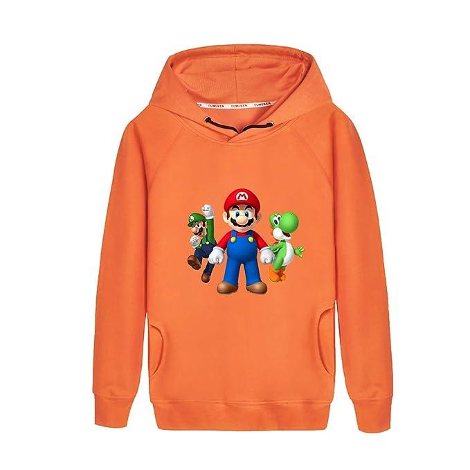 Aivosen Super Mario Estampar Otoño Invierno Personalidad Sudadera con Capucha para Niño y Niña Manga Larga con Capucha: Amazon.es: Ropa y accesorios