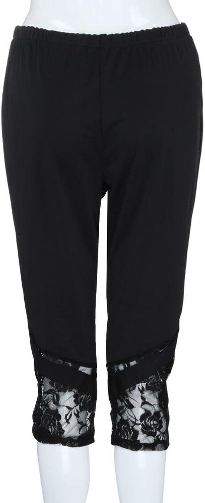 Women High Waist Yoga Shorts Printed Plus Size Cuekondy Stretchy Lace Splicing Workout Sports Pants Leggings Hot Sale