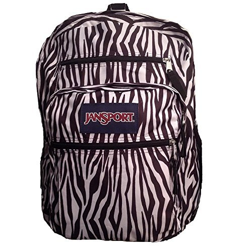 JanSport Big Student Backpack- Sale Colors (Black/White Zebra Stripe)